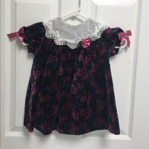 Girl s velvet holiday dress